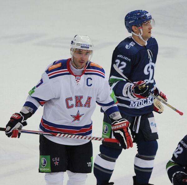 Игровой момент матча Динамо (Москва) - СКА (Санкт-Петербург)