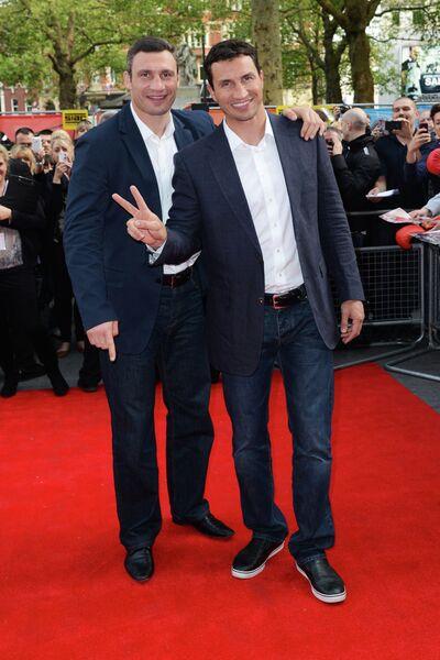 Виталий Кличко и Владимир Кличко на премьере фильма Klitschko в Лондоне