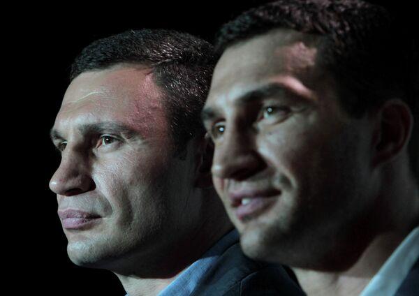 Пресс-конференция боксеров Владимира и Виталия Кличко прошла в Киеве