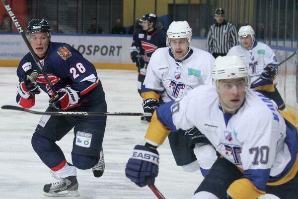 Игровой момент матча Сокол - Казцинк-Торпедо
