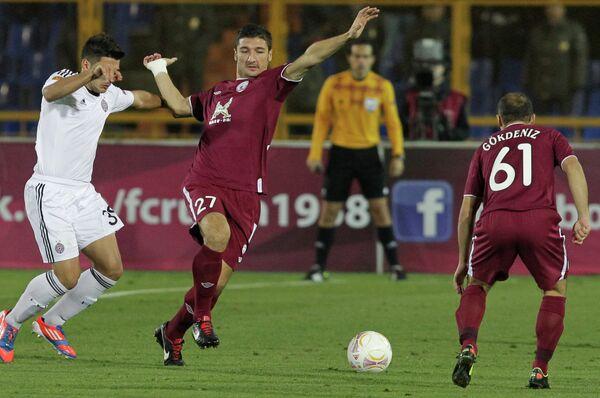 Игровой момент матча Рубин - Партизан