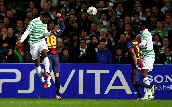 Игровой момент матча Селтик - Барселона