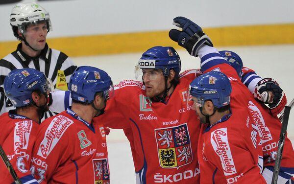 Хоккеисты сборной Чехии