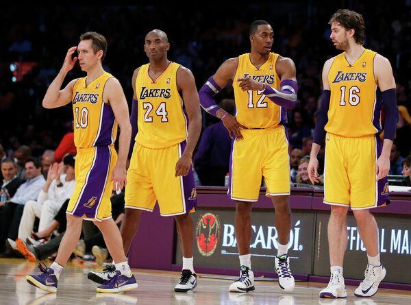 Баскетболисты Лос-Анджелес Лейкерс