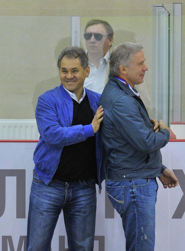 Сергей Шойгу и Вячеслав Фетисов