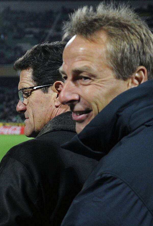 Фабио Капелло и Юрген Клинсман (слева направо)