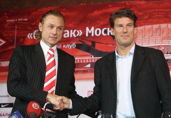 Микаэль Лаудруп и Валерий Карпин