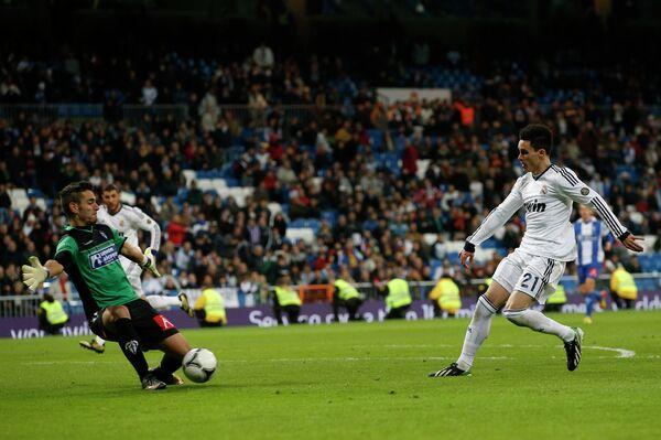 Игровой момент матча Реал - Алькояно