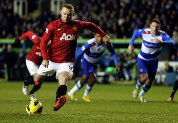 Игровой момент матча Рединг - Манчестер Юнайтед