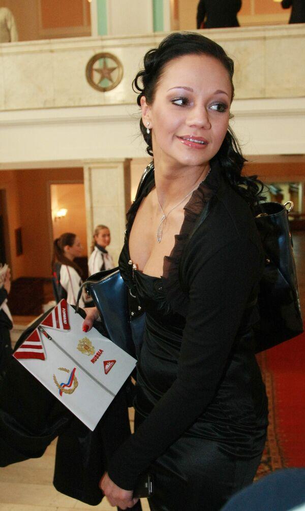 Ирина Чащина на церемонии вручения Национальной спортивной премии СЛАВА