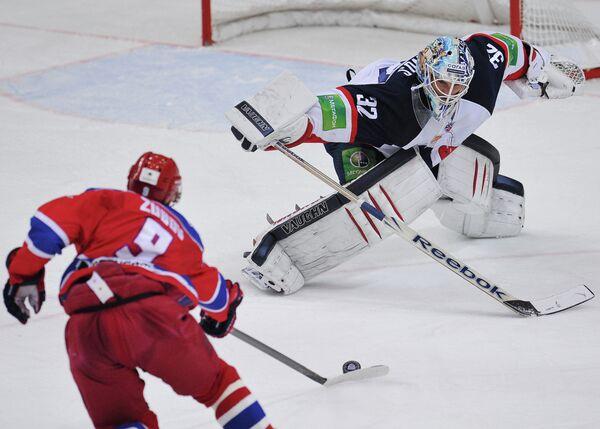 Игровой момент матча ЦСКА - Слован