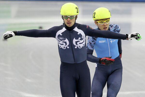 Евгений Козулин и Виктор Ан (слева направо)