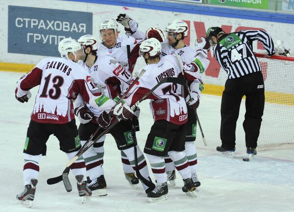 Хоккеисты Динамо Рига