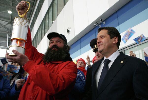 Встреча Огня XXVII Всемирной летней Универсиады во Владивостоке