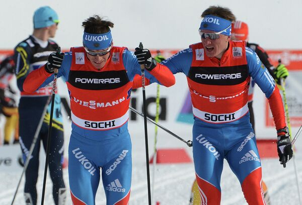 Россияне Максим Вылегжанин и Дмитрий Япаров (слева направо)