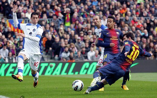 Игровой момент матча Барселона-Хетафе