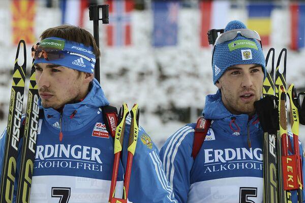 Россияне Антон Шипулин и Дмитрий Малышко (слева направо)