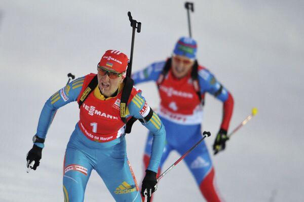 Украинка Елена Пидгрушная (слева) и россиянка Ольга Зайцева