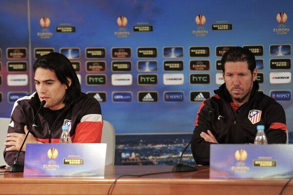 Радамель Фалькао (слева) и Диего Симеоне