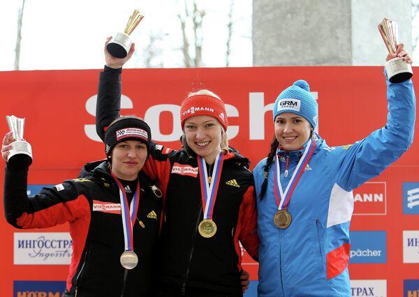 Карина Шваб, Айлин Фриш и Татьяна Иванова (слева направо)
