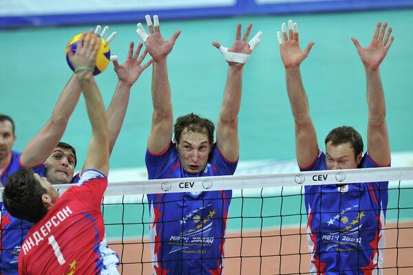 Игровой момент волейбольного Матча Звезд - 2013