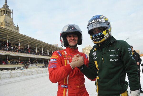 Кирилл Ладыгин (слева) и Кими Райкконен
