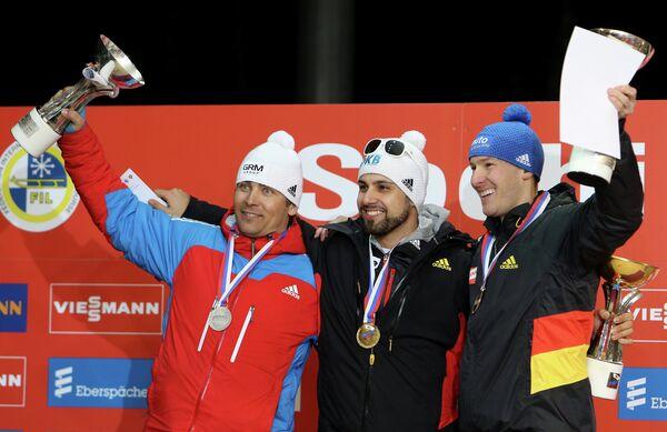 Альберт Демченко, Энди Лангенан и Тобиас Вендль (слева направо)