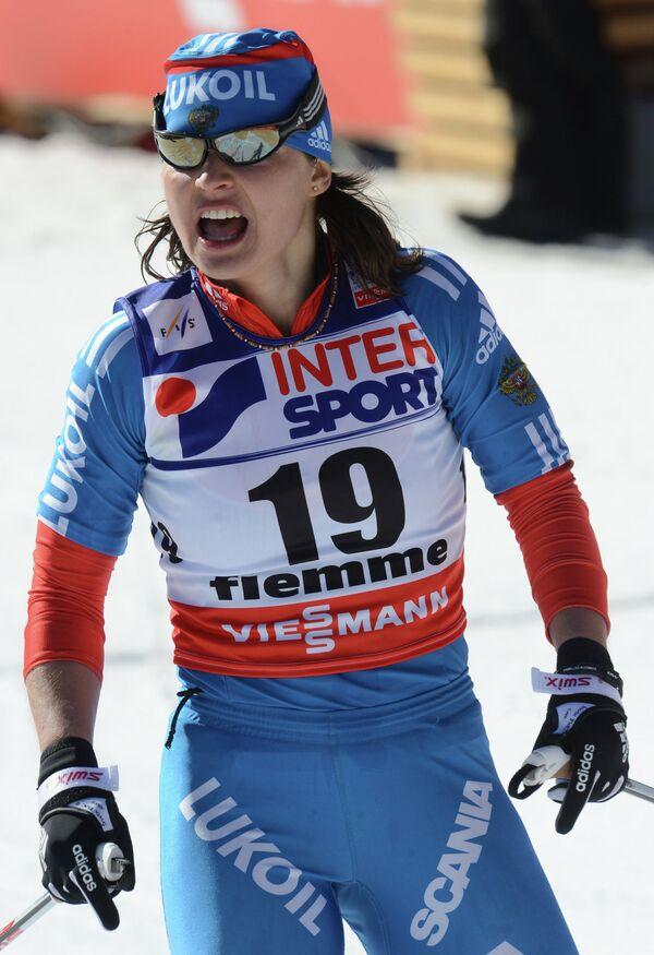 Российская лыжница Юлия Иванова на дистанции 30 км классическим стилем