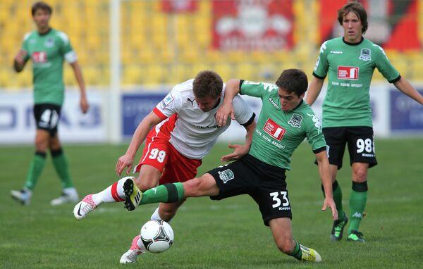 Игровой момент матча Краснодар - Амкар