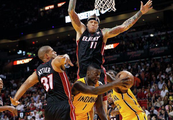 Игровой момент матча НБА Майами Хит - Индиана Пэйсерс