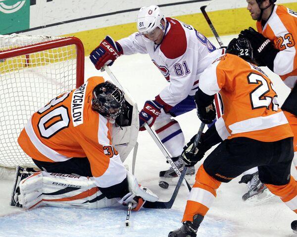 Игровой момент матча НХЛ Монреаль Канадиенс - Филадельфия Флайерз