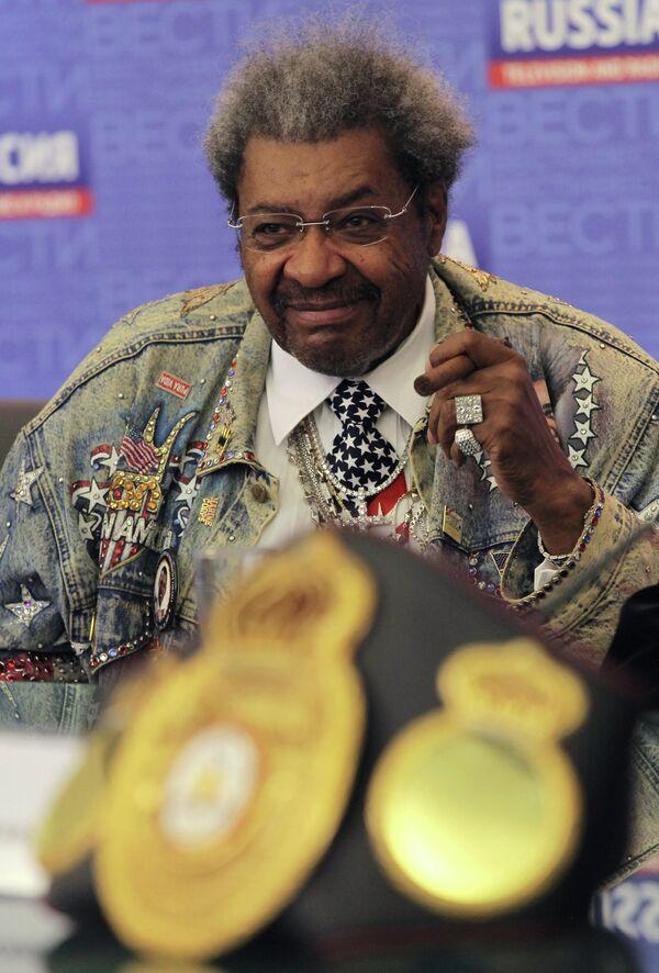 Американский промоутер Дональд Дон Кинг на пресс-конференции