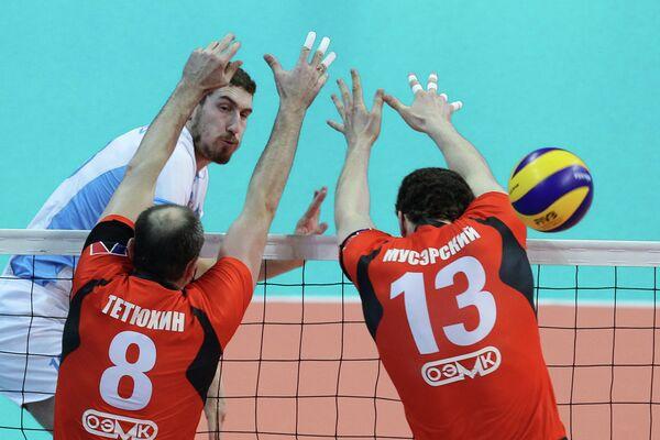 Игровой момент матча Зенит - Белогорье