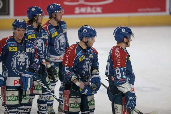 Игроки хоккейного клуба Медвешчак (Загреб)