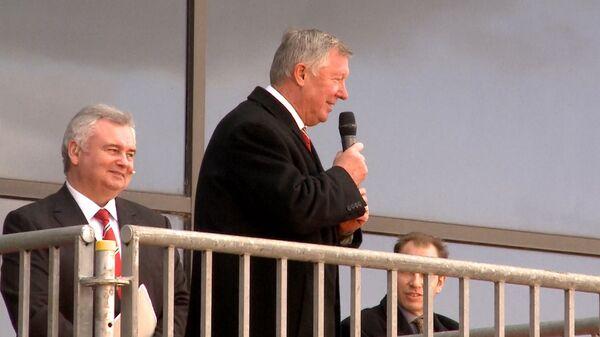 Фергюсон на посту главного тренера Манчестер Юнайтед. Архивные кадры