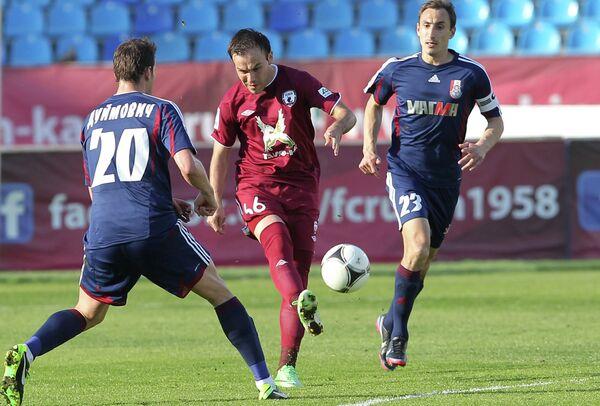 Игровой момент матча Рубин - Мордовия