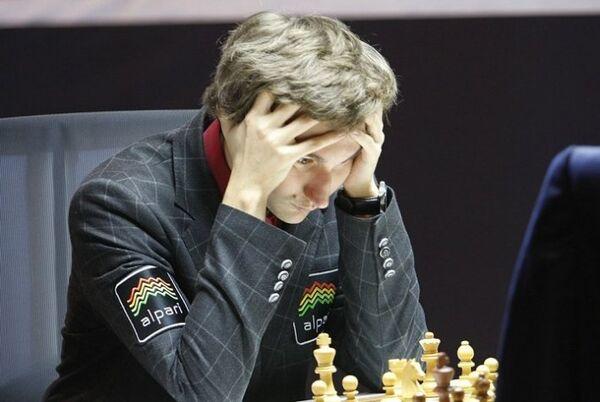 Российский шахмастист Сергей Карякин на турнире в Норвегии