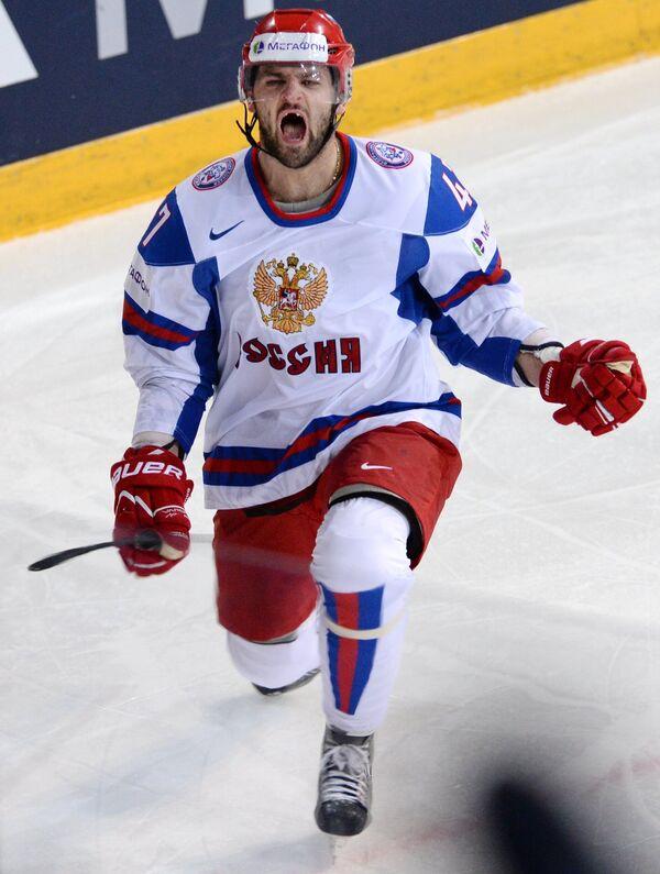Игрок сборной России Александр Радулов