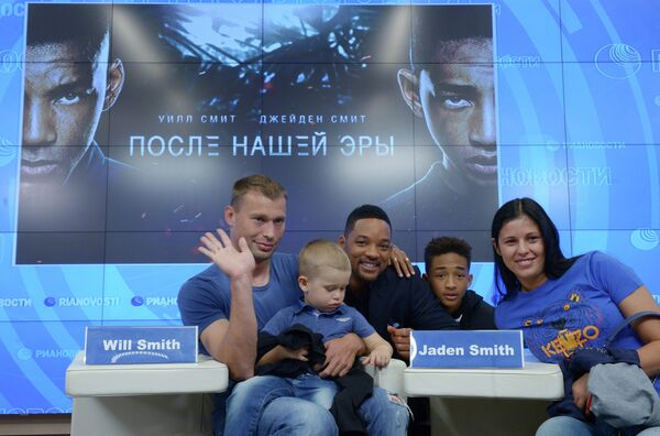 Американский актер Уилл Смит посетил РИА Новости