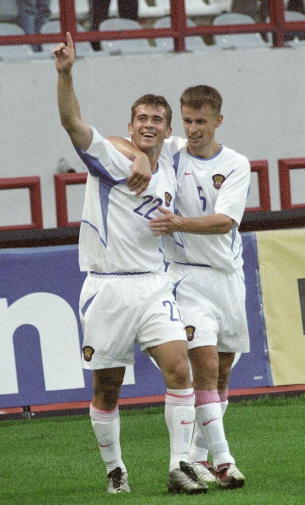 Александр Кержаков (слева) и Сергей Семак