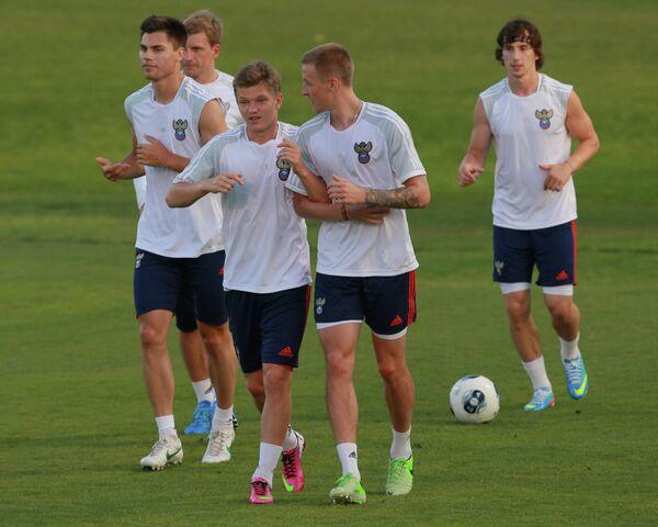 Тренировка молодежной сборной России