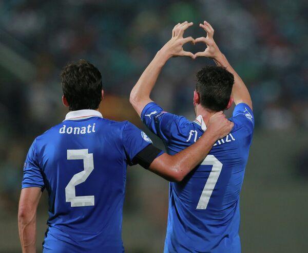 Футбол. ЧЕ среди молодежных команд. Матч Италия - Израиль