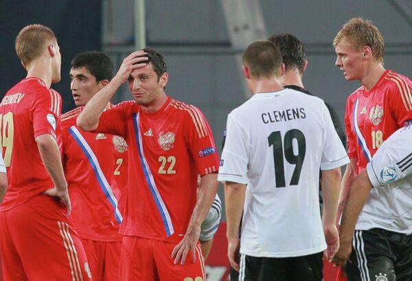 Алан Дзагоев и игроки сборной России по футболу