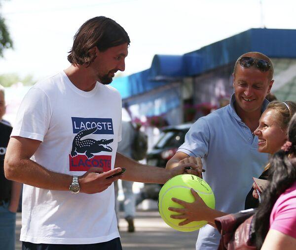 Хорватский теннисист Горан Иванишевич.