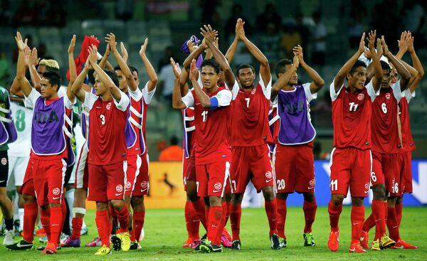Футболисты сборной Таити