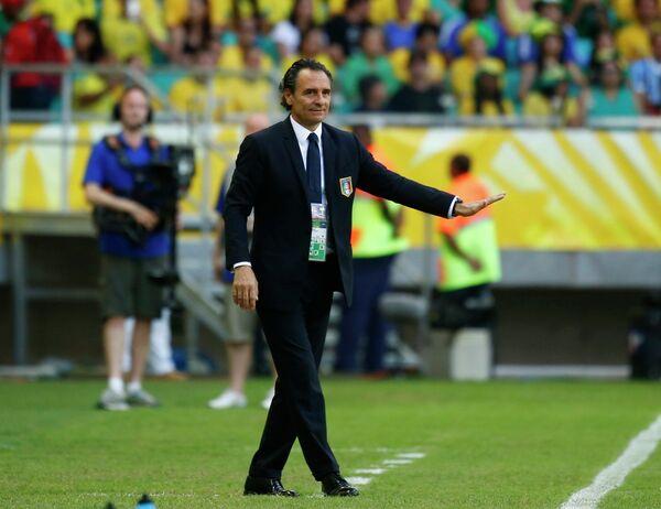 Главный тренер сборной Италии по футболу Чезаре Пранделли
