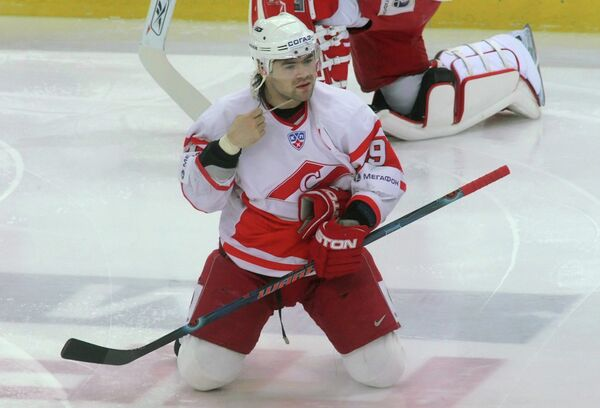 2009 год - нападающий Максим Рыбин, выступающий за Спартак (Москва)