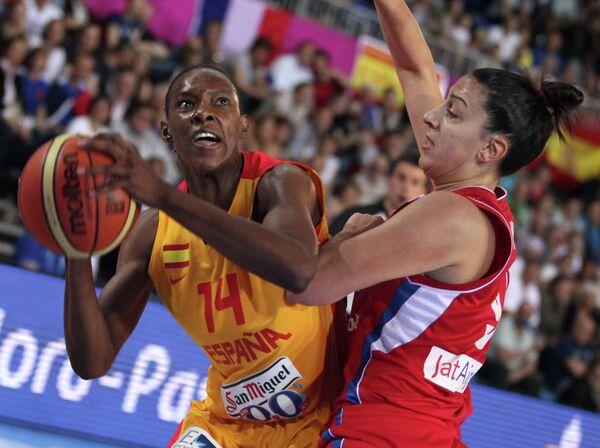Баскетбол. Чемпионат Европы. Женщины. Матч Испания - Сербия