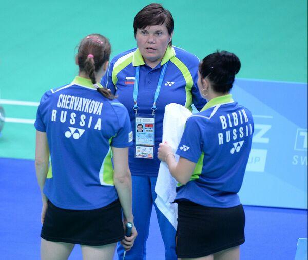 Российские спортсменки Анастасия Червякова (слева) и Татьяна Бибик (справа)