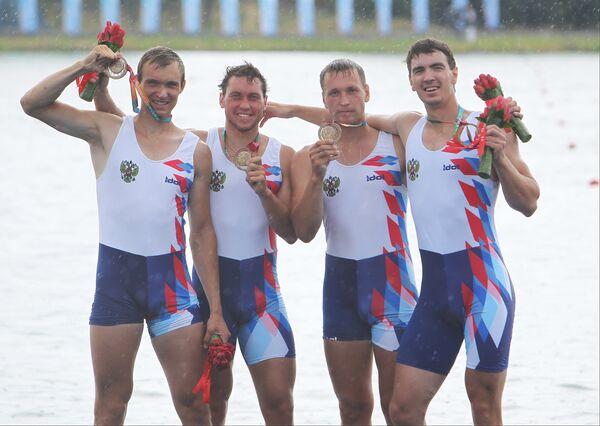 Владимир Воронов, Алексей Викулин, Антон Куранов и Андрей Кряжев (слева направо)